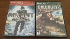 CALL OF DUTY WORLD AT WAR, AND CALL OF DUTY 2 PLAYSTATION 2 GAMES GOOD COMPLETE