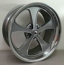 RIDDLER 645 20X8.5 20X10 STAGGERED GRAY WHEELS 69-99 CHEVY 5 LUG 5X5 PICKUP SUV
