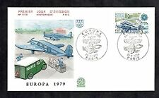 Aviation Cover FDC 1979 French Postal Planes Stamp Aeroplane Avion