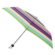 totes Steel Multi Block Stripe Print Umbrella  (3 Section)