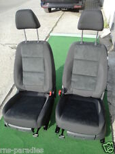 VW TIGUAN SEAT SEATS LEATHER TRIM FABRIC+LEATHER ALCANTARA BLACK