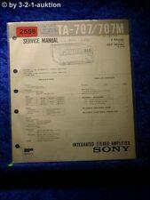 Sony Service Manual TA 707 / 707M Amplifier  (#2555)