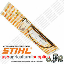 STIHL 4137 180 1107 THROTTLE CABLE NEXT DAY -FITS FS80 R LOOP HANDLE MODEL ONLY