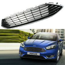 Front Bumper Center Grille Grill Panel Chrome For Ford Focus 2015 2016 Upper