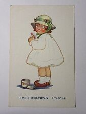 "K609 - ""The Finishing Touch"" - LITTLE GIRL Make-Up COMIC POSTCARD"