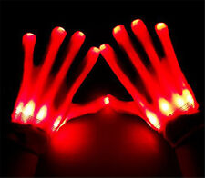 New Clubbing Dance Halloween Flashing LED Gloves Light Up Fancy Dress