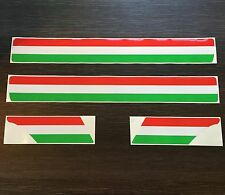 Italian Stripe Kit Sticker Set fits Vespa PX  T5 - Red Green & White Decal ST27