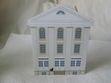 1995 The Cat's Meow Historical Nauvoo Series Cultural Hall #3713 Wood Art Deco