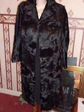 "Ladies soft real Pony fur black coat 40"" bust size 14 length 38"" vgc"
