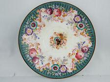 ancienne coupelle sous tasse sarreguemines epoque 19 eme decor floral