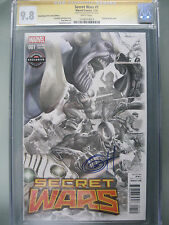 Secret Wars 1 GameStop Fade Variant CGC 9.8 SS Signed Greg Horn Thanos