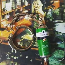 Cool GORDON'S G&T CAN KEYRING novelty GIN TONIC retro MIXED UP DOLLY keychain!