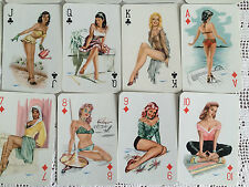 RARE MINT Vintage 50s HEINZ VILLIGER Pin Up Girl Schutzmarke Playing Cards Set