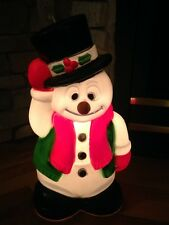 "18"" Snowman Frosty Christmas Plastic Blow Mold by General Foam Christmas Decor"