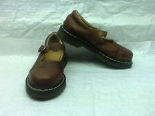 Dr. Martens Brown Leather 9856 Mary Jane Air Cushion Shoes Women's Sz 6M EUC