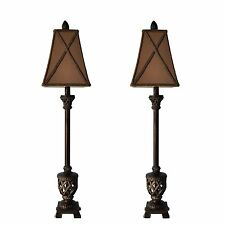 "30"" Set of 2 MESTAR Brown Buffet Lamps Table Lamp"