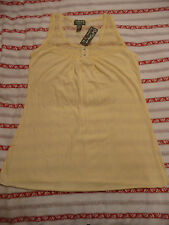 BNWT, CREAM TOP, SIZE 14, LACE NECK, COTTON, VERY PRETTY, BY ONE STEP UP