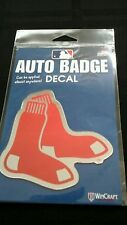 "BOSTON RED SOX AUTO BADGE CAR DECAL EMBLEM 3""×5"" NEW ITEM! FREE SHIPPING!"