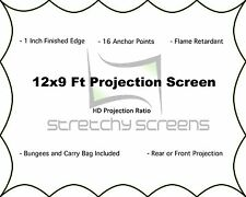 DJ SCREEN, VJ SCREEN, MOVIE SCREEN, 12'X9' Ft , FRONT/REAR PROJECTION SCREEN