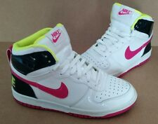 NIKE DUNK LE High Top 344578-100 Neon Pink Green/White big Girl's SZ 5.5Y WMNS 7