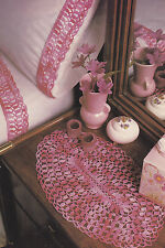 Crochet Pattern ~ BED SET Pillowcase & Sheet Edging, Oval Doily ~ Instructions