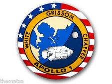 "4"" APOLLO 1 NASA SPACE HELMET CAR BUMPER EMBLEM DECAL STICKER MADE IN USA"
