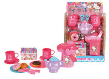 Hello Kitty Kids toy Fun Tea set with Donut & Pot Play Set Role Play Sanrio