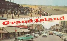 1957 Greetings From Grand Island NE retail section & New Fonner Park