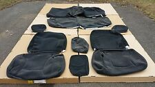 2000 CHRYSLER CONCORDE OEM CLOTH SEAT COVERS SLATE W/O AIR
