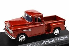 CHEVROLET 5100 STEPSIDE PICKUP 1955 MOTORMAX 73829 1:43 NEW DIECAST BRICK RED