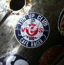 CAFE RACER decals x 2.  Voodoo Street Ltd. Self adhesive vinyl. Oily rag, GB