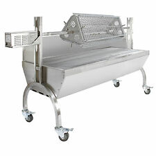60kg Hog Roast Machine BBQ Spit Roaster Rotisserie Grill Attachment Steel Motor