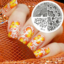 Floral Fleur Ongle Nail Art Stamping pochoir Template Image plaque BORN PRETTY17