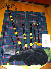GRAINGER and CAMPBELL vintage bagpipes c.1972, extra chanter