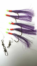 5 Hook Purple Flasher Rig  (3 packs) mackerel/bass/pollock/boat/pier fishing