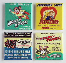 Old Time Comic Book FRIDGE MAGNET Set heckle jeckle archie mighty mouse batwoman