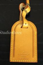 LOUIS VUITTON Made in USA Large Leather ID Tag For Briefcase Luggage or Purse