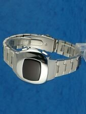 Rare old style modern futuristic 70s seventies space age mens led l.e.d watch 97