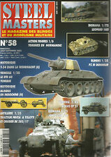 STEEL MASTERS N° 58 LEOPARD 1A5 / PZ III DEMINEUR / BLINDE INDOCHINE / SDKFZ 250