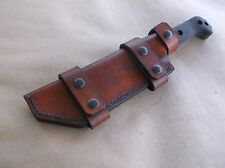KA BAR BECKER BK-7 CUSTOM LEATHER SHEATH (SHEATH ONLY)