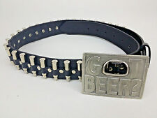 Bergamot WI. Pewter Got Beer Buckle Bottle Opener Hot Topic Bullet Belt sz 36