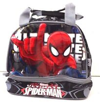 Marvel Spider-Man 2 Layer Boy Insulated Lunch Bag, Snack Storage Bag NWT