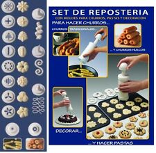 MAQUINA CHURRERA Y DE REPOSTERIA. PARA HACER CHURROS (machine easy maker churro)