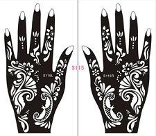 Henna decal stencil body jewllery self adhesive hand S115