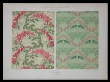 TENTURES, J. BOHL -1901- LITHOGRAPHIE, ART NOUVEAU, FLEURS