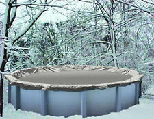 15' Round Above Ground Winter Swimming Pool Solid Cover 15YR > REINFORCED HEM