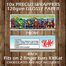 Super Hero Squad Personalised Kitkat Chocolate Wrapper Children Party Favours