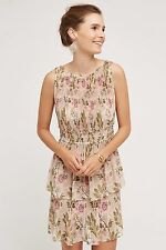 NWT SZ XL ANTHROPOLOGIE TERRACED GARDEN DRESS TRACY REESE FLORAL PLEATED BEAUTY!