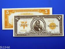 Fantasy $5 1922 Gold Certificate Note US Paper Money Currency Never Issued Copy
