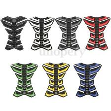 Universal Motorcycle Bike Rubber Gas Fuel Oil Tank Pad Protector Sticker Decal